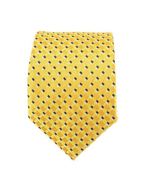 Cravate jaune à petits carreaux Clj Charles Le Jeune Cravates