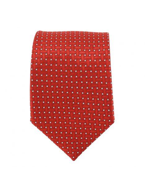 Cravate rouge à pois blancs Clj Charles Le Jeune Cravates