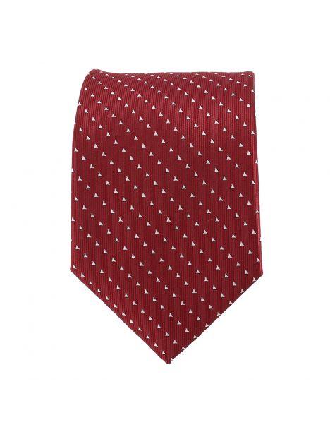Cravate bordeaux triangles blancs Clj Charles Le Jeune Cravates
