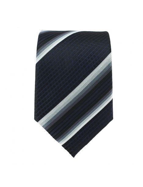 Cravate club noir et gris Clj Charles Le Jeune Cravates