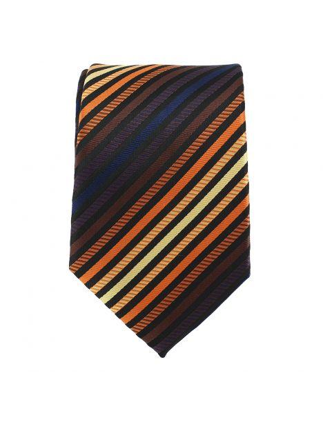 Cravate fine lignes multicolores Clj Charles Le Jeune Cravates