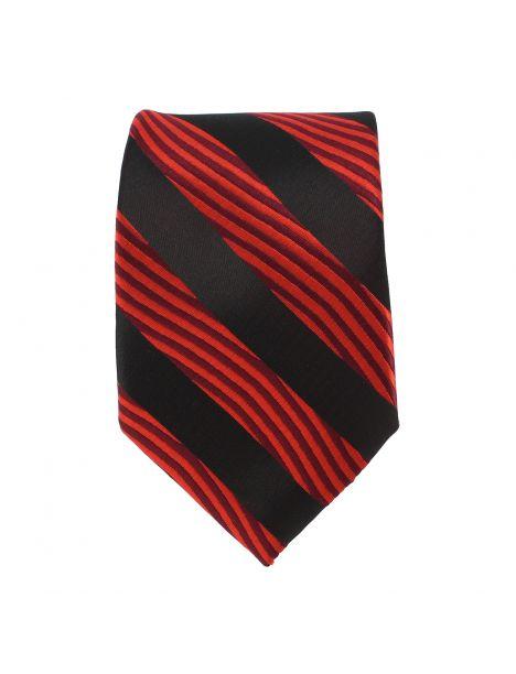 Cravate club noir et rouge Clj Charles Le Jeune Cravates