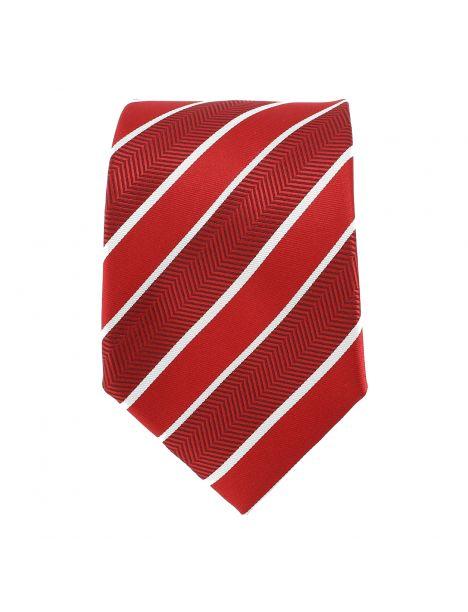 Cravate club rouge et bordeaux Clj Charles Le Jeune Cravates