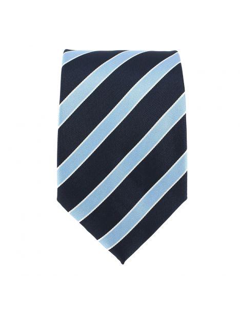Cravate rayée marine et ciel Clj Charles Le Jeune Cravates
