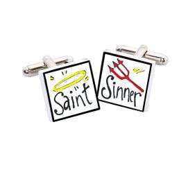 Bouton de Manchette Saint Sinner, Bone China Sonia Spencer Bouton de manchette