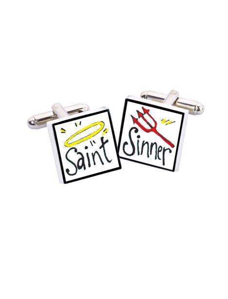 Bouton de Manchette Saint Sinner, Bone China Sonia Spencer Bouton de manchette