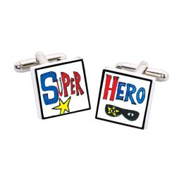 Bouton de Manchette Super Hero, Bone China Sonia Spencer Bouton de manchette