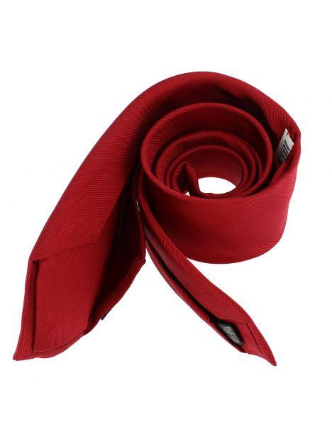Cravate soie 6 plis, Rouge Sangue, Faite à la main