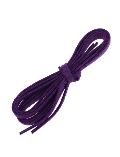 lacets plats 5mm coton, violet Digitale Les lacets Français Lacets