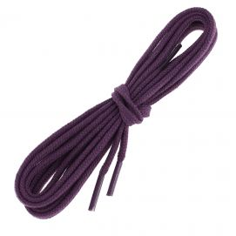 lacets plats 5mm coton, Prune
