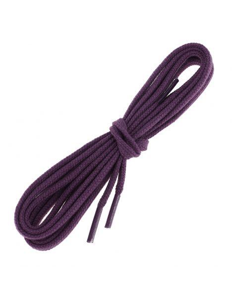 lacets plats coton couleur Prune