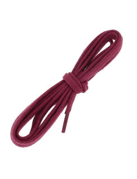 lacets plats coton couleur Framboise