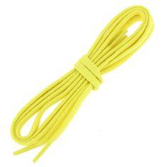lacets plats 5mm coton, jaune canari
