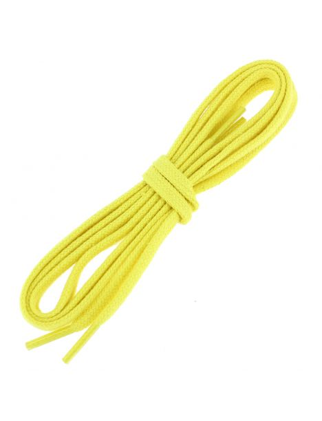 lacets plats coton couleur jaune canari