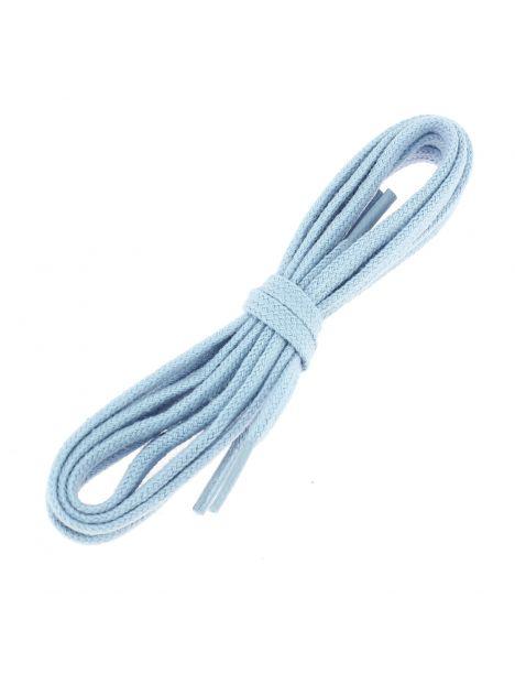 lacets plats coton couleur bleu Ciel J