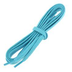 lacets plats 5mm coton, bleu Turquoise