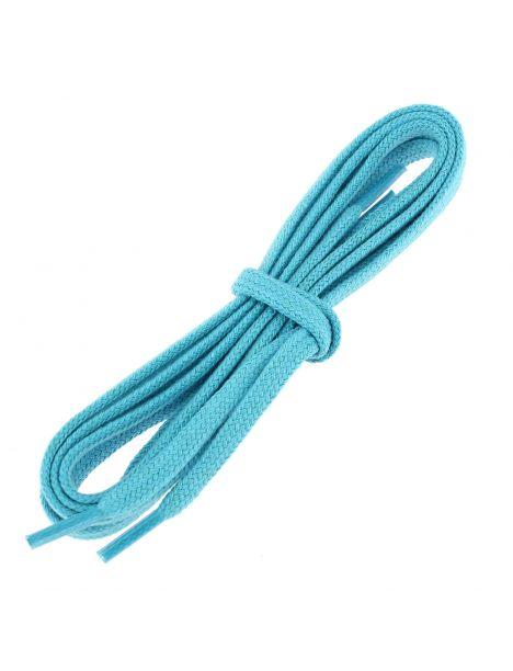 lacets plats coton couleur bleu Turquoise