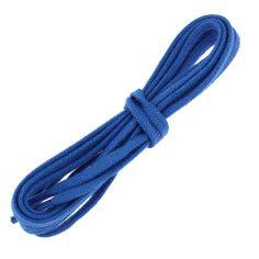 lacets plats 5mm coton, bleu Blason