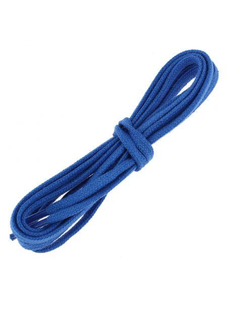 lacets plats coton couleur bleu Blason