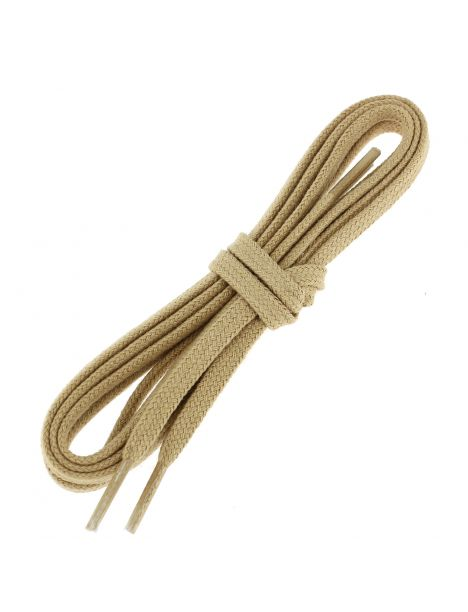 lacets plats coton couleur sable
