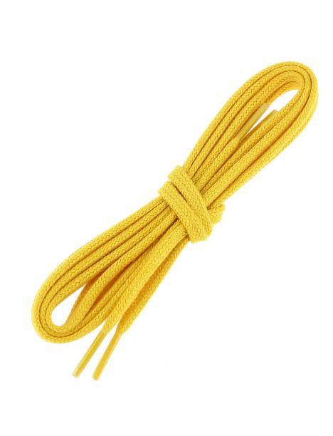 lacets plats coton couleur jaune bouton d'or