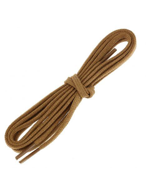 lacets plats coton couleur chameau