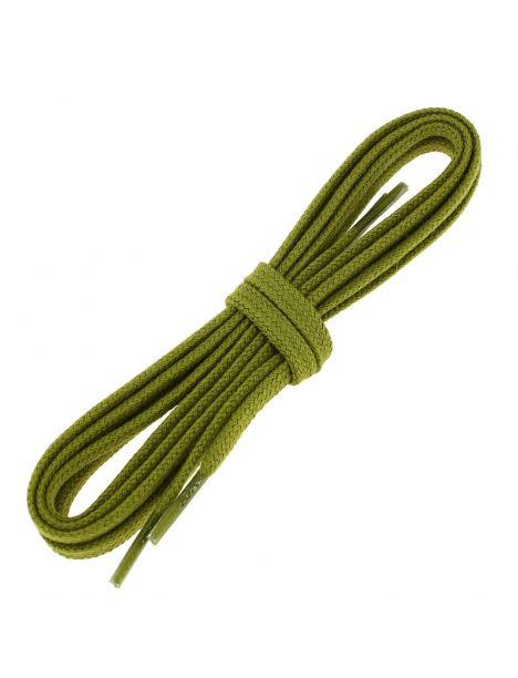 lacets plats coton couleur vert colibri