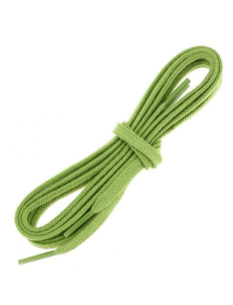 lacets plats coton couleur vert anis
