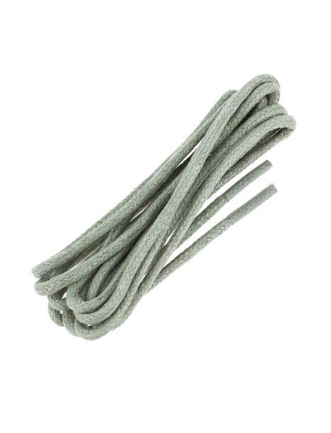 lacets rond coton ciré 75cm, Gris pompei.