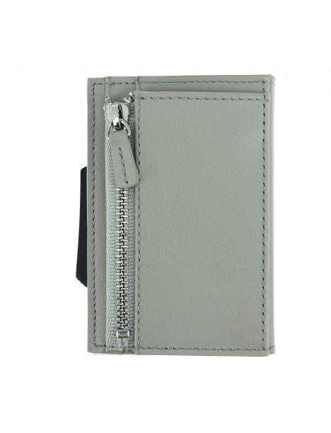 Porte carte Cascade Slim for coin, Aluminium et cuir, Blaster. Ogon Design.