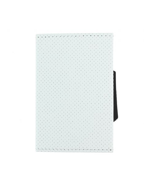 Porte carte Cascade Slim, Aluminium et cuir vegan, Traforato blanc, Ogon Design.