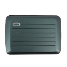 Porte carte STOCKHOLM V2, Platinum, gris foncé - Fermoir métal. Ogon Design.