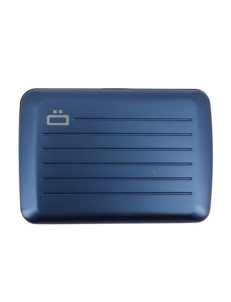 Porte carte STOCKHOLM V2, Navy Blue - Fermoir métal. Ogon Design.