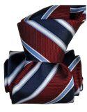 Cravate Segni Disegni LUXE, Faite main Pise. Rayée marine et Bordeaux Segni et Disegni Cravates
