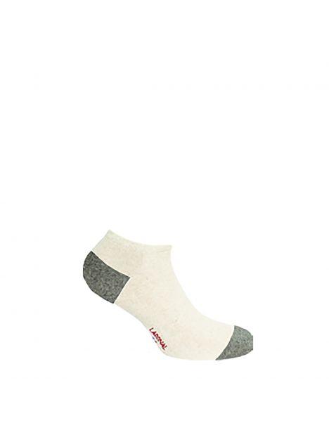 Mini socquettes bicolores avec coton bio écru