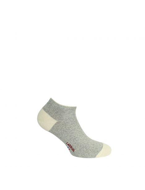 Mini socquettes bicolores avec coton bio gris