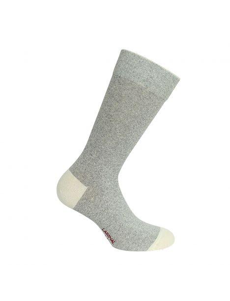 Mi chaussette bicolores avec coton bio gris Labonal Chaussettes