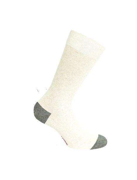 Mi chaussette bicolores avec coton bio écru