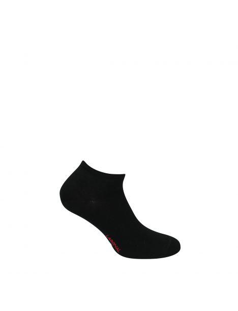 Mini socquettes unie Jersey Bambou noir