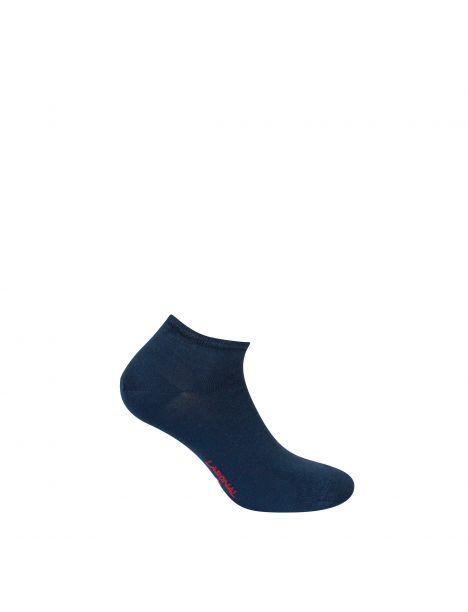 Mini socquettes unie Jersey Bambou bleu marine