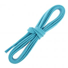 lacets sneaker, plats et large en coton, Bleu Turquoise