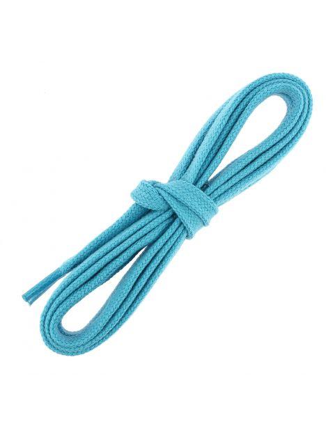 lacets sneaker, plats et large en coton, Bleu Turquoise Les lacets Français Lacets