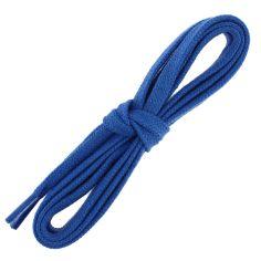lacets sneaker, plats et large en coton, Bleu Blason
