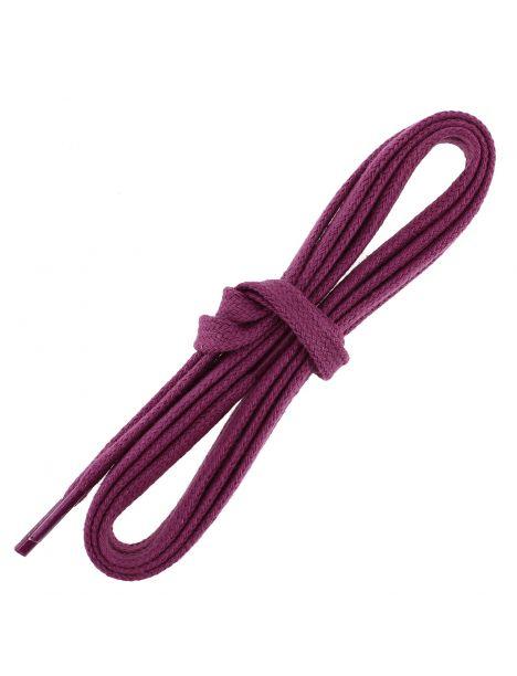 lacets sneaker, plats et large en coton, Violet