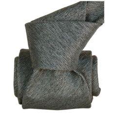Cravate Segni Disegni LUXE, Faite main ACIREALE Grise Segni et Disegni Cravates