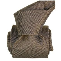 Cravate Segni Disegni LUXE, Faite main. Acireale Marron