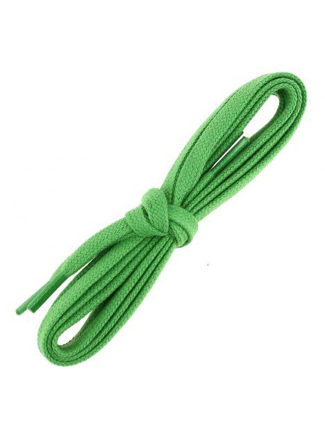 lacets sneaker, plats et large en coton, Vert Pastourelle