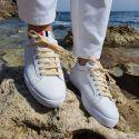 lacets sneaker, plats et large en coton, Jaune Paille Les lacets Français Lacets