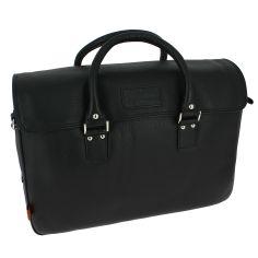 Sac Business, en cuir noir, LEWES, Simon Carter London.