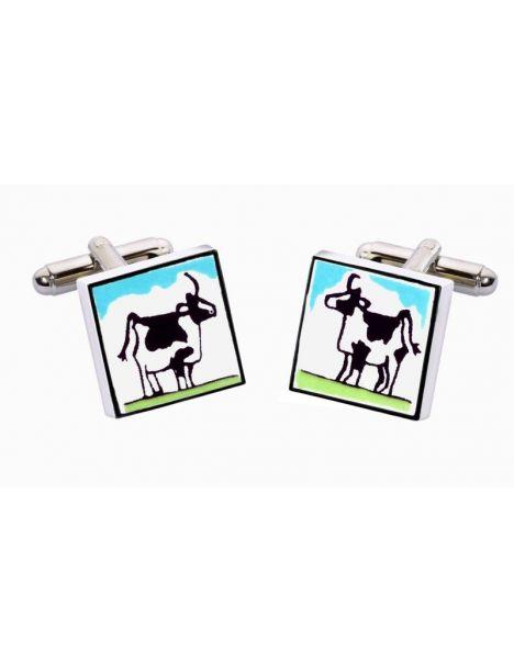 Bouton de Manchette Cow, Vache Sonia Spencer Bouton de manchette